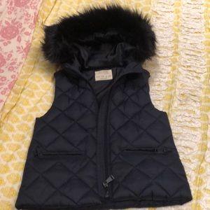 Zara navy puffer be the with fur collar